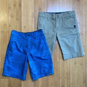 lot of 2 pairs Quiksilver boys shorts size 5